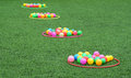 Color Balls on Grass Royalty Free Stock Photo