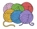 Color balls of wool Royalty Free Stock Photo