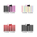 Color barcode logo and emblem for Royalty Free Stock Images