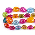 Color beads assorted glass on white Royalty Free Stock Photo