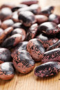 Color beans on wooden table Royalty Free Stock Photo