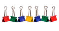 Color binder clips Royalty Free Stock Photo