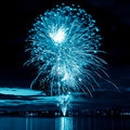 Color blue firework Stock Photo