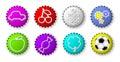 Color bottle caps Stock Image