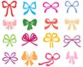 Color bow set multicolor image of different collection Stock Photography