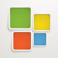 Color boxes. Template for a text Royalty Free Stock Photography