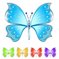 Color butterflies vector set isolated on white background Royalty Free Stock Photos