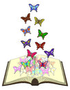Color butterfliess book creative design of butterflies Royalty Free Stock Photos