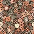 Color Buttons Seamless Vintage Pattern Royalty Free Stock Photo