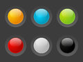 Color buttons set of glossy Royalty Free Stock Photography