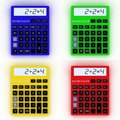 Color calculator d mathematics object isolated on white background Royalty Free Stock Photos