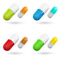 Color capsule pills Royalty Free Stock Photo