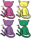 Color Cats Stock Photography