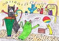 Color Cats Have Fun In The Yar...