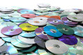 Color cd and dvd background data as nice technology Stock Photography