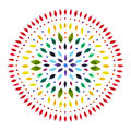 7 color of chakra mandala symbol concept, flower floral, watercolor painting Royalty Free Stock Photo