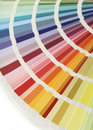 Color chart fan Stock Image