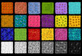 Color checker from flowers rendition chart and plants on black background abstract collage Royalty Free Stock Photo