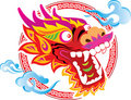 Color Chinese Dragon Head art design Royalty Free Stock Photos