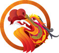 Color chinese dragon head art illustration Royalty Free Stock Photography