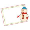 Color christmas card with snowman