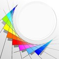 Color circle abstract illustration of a with shades Stock Images