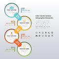 Color circle outline infographic elements vector illustration of Royalty Free Stock Photography