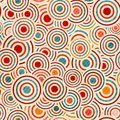 Color circle pattern Stock Image