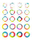 Color circle set vector illustation on white Stock Photography