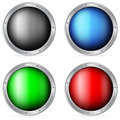 Color circle shields set on a white background Stock Image