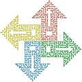 Color circuit computer arrows - Royalty Free Stock Photo