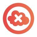 Color circular emblem with disable cloud service