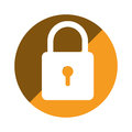 Color circular emblem with padlock icon Royalty Free Stock Photo