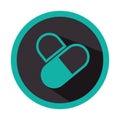 Color circular emblem with pills