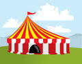 Color circus tent Stock Images