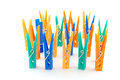 Color clothes-pegs Stock Photo
