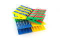 Color clothes-pegs Royalty Free Stock Photos