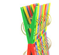 Color clothes pegs over white shallow dof Royalty Free Stock Photography