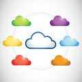 Color clouds network illustration design Stock Images