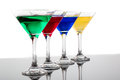 Color cocktails in line Royalty Free Stock Photo
