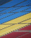 Color-coded Spectator Seats Royalty Free Stock Photos