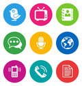Color communication icons Royalty Free Stock Photo