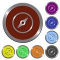 Color compass buttons