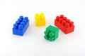 Color componentry of child s meccano over white Royalty Free Stock Photo