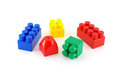 Color components of child s meccano over white Stock Images