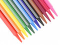 Color crayons Stock Photos