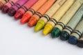 Color crayons / wax pencils macro Royalty Free Stock Photo
