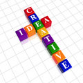 Color creative idea like crossword Royalty Free Stock Images