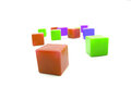 color cubes isolated