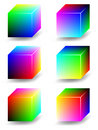 Color cubes - RGB Royalty Free Stock Photo